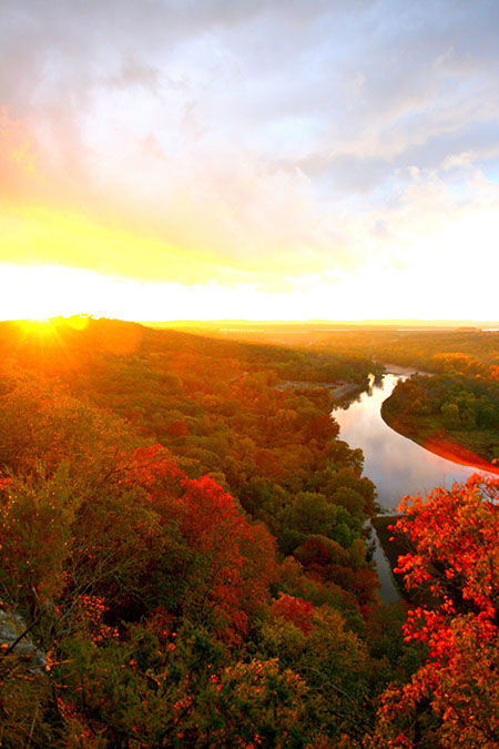 Lake Taneycomo in Fall