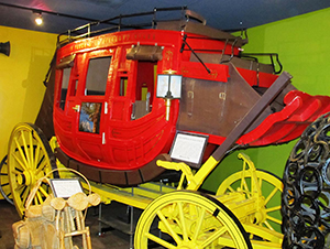 Toothpick stagecoach at Ripley's Believe it or Not, Branson