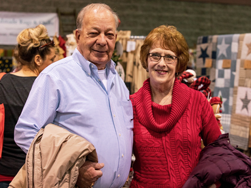 Couple shopping together at Branson Market Days.