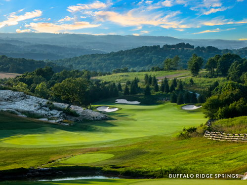 Scenic golf course in Branson.