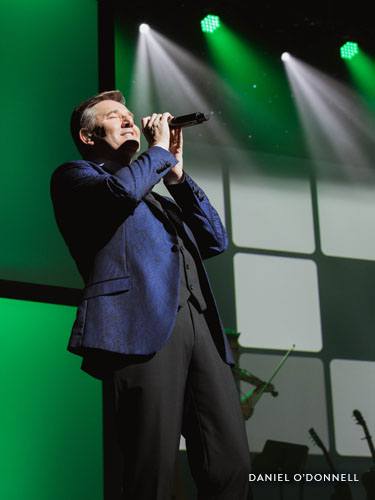 Irish singer Daniel O'Donnell performs on the Welk Resorts Theatre stage in Branson, Missouri.