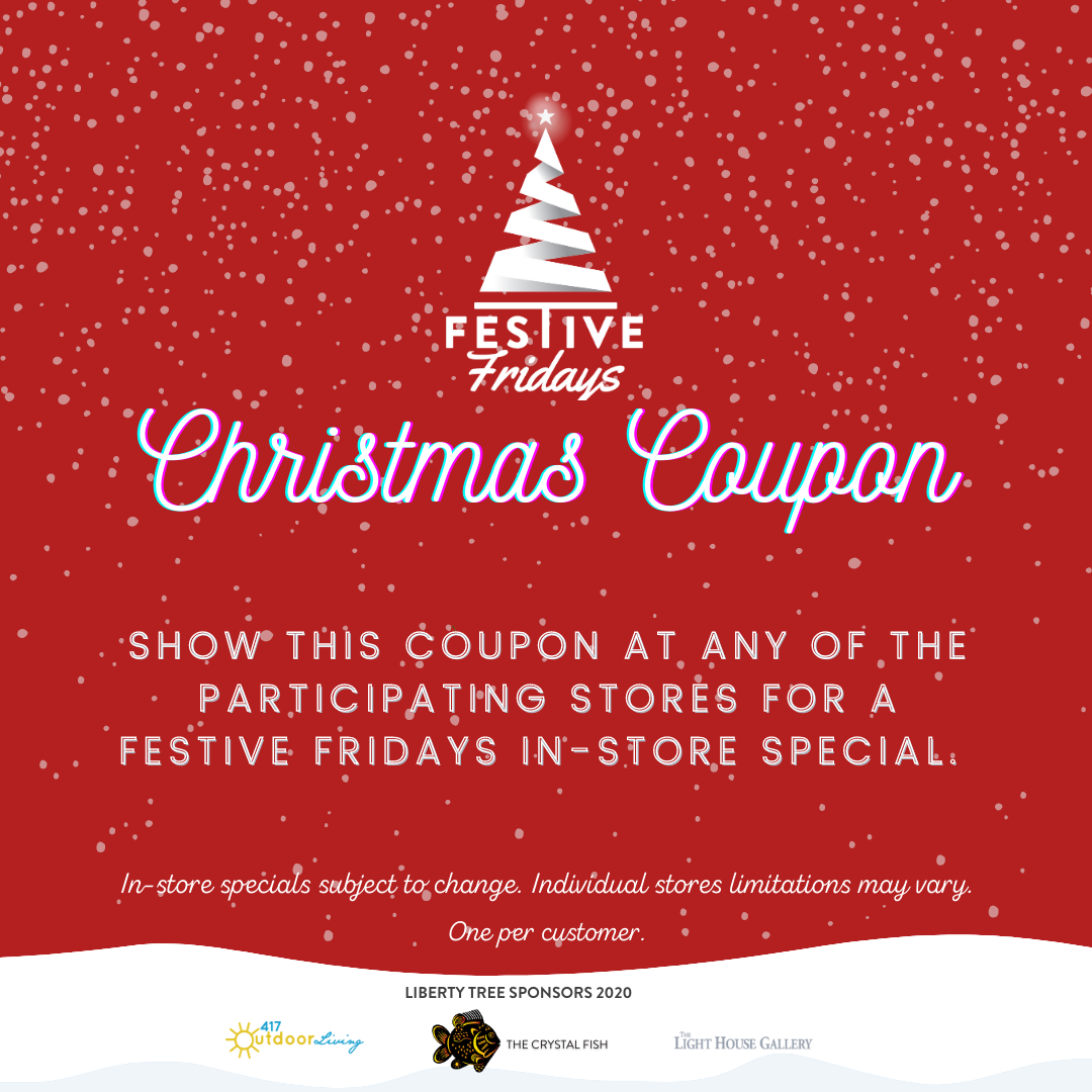 christmas coupon for downtown branson shopping 2020