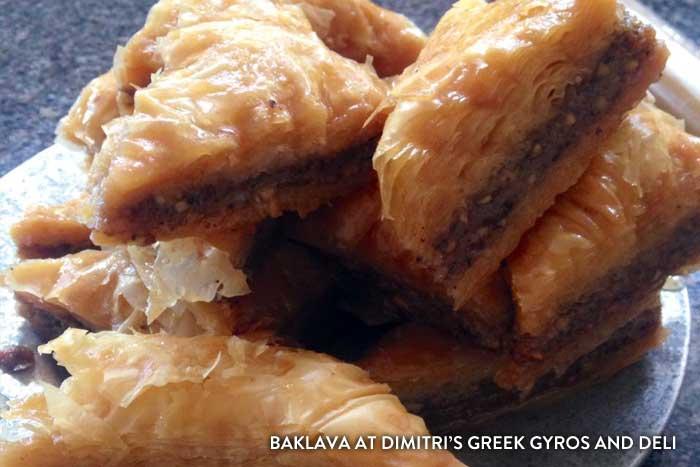 Baklava at Dimitri's Greek Gyros and Deli