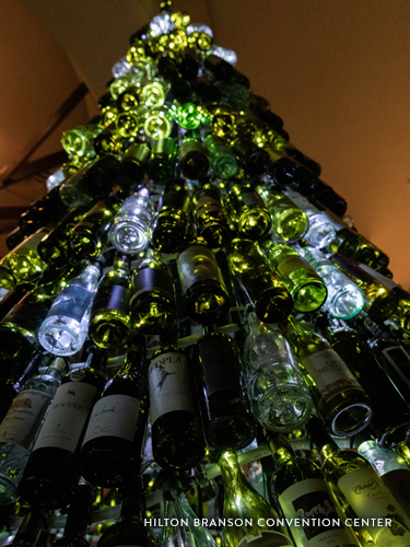 Wine Bottle Christmas Tree on America's Christmas Tree City's Tour
