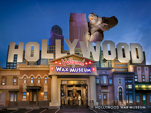 Front entrance of Hollywood Wax Museum in Branson.
