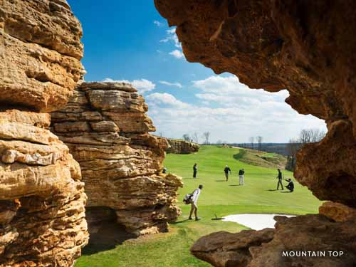 Scenic golf course in Branson.