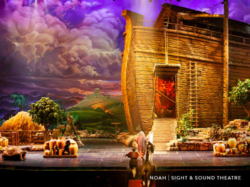 Noah's Ark created on stage at Branson Sight and Sound Theatre.