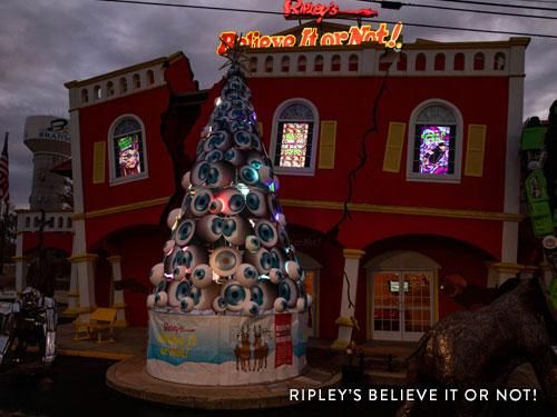 Eye Ball Christmas Tree on America's Christmas Tree City's Tour
