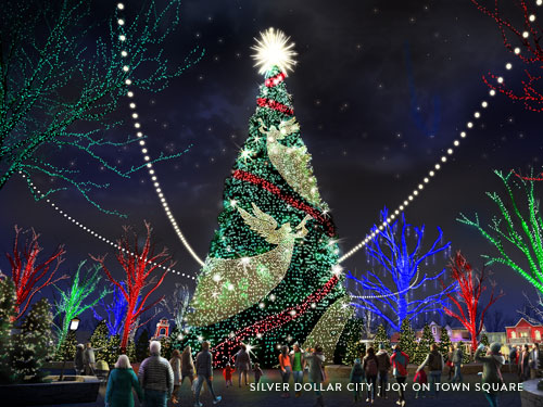 8-story, state-of-the-art Christmas Tree at Silver Dollar City