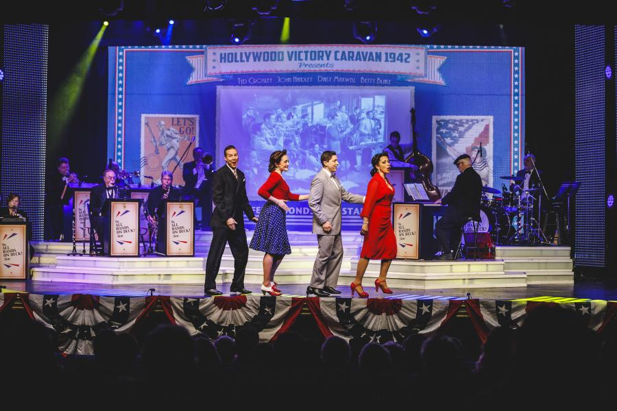 All Hands on Deck performers on stage in Branson.