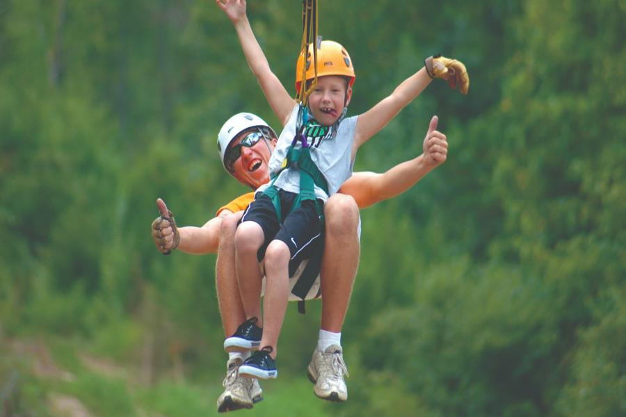 (Hero) Father and son at Adventure Zipline in Branson Mo