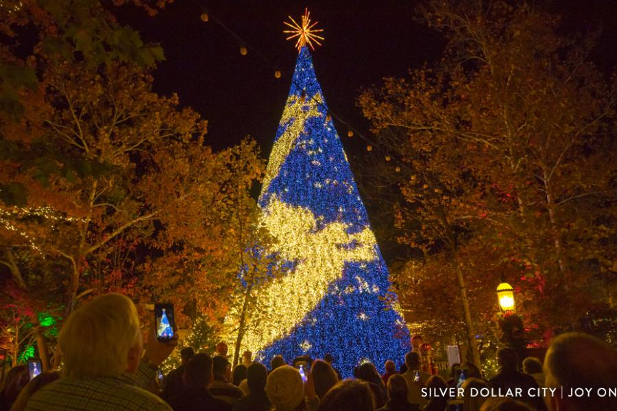 8-story LED Christmas Tree at Silver Dollar City in Branson, Missouri.