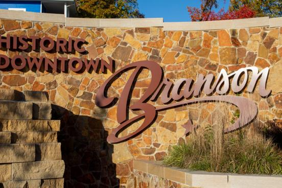 Sign of Historic Downtown Branson.