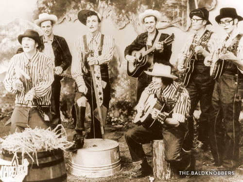 The Baldknobbers family band in their early days in Branson.
