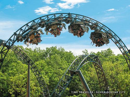 Spinning roller coaster in Branson.