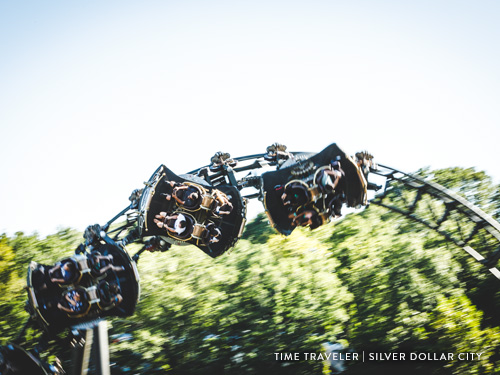 Spinning roller coaster in Branson.