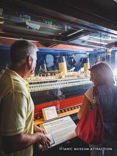 Couple enjoying Titanic Museum Attraction.