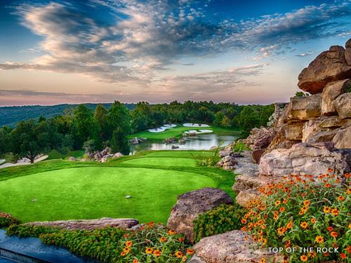 Scenic par-3 golf course in Branson.