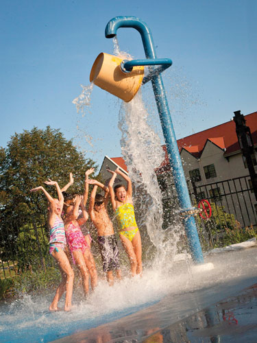 Children playing at a water park in Branson.