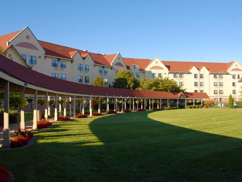 Courtyard at Welk Resorts in Branson.
