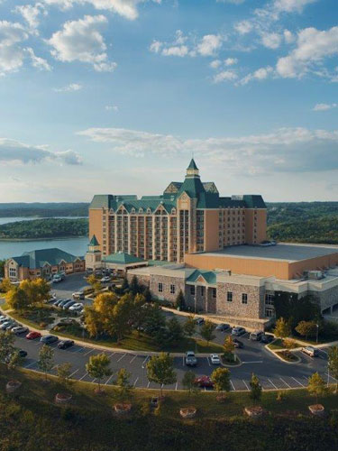 Chateau on the Lake resort sitting on top of the Ozark Mountains in Branson, Missouri.