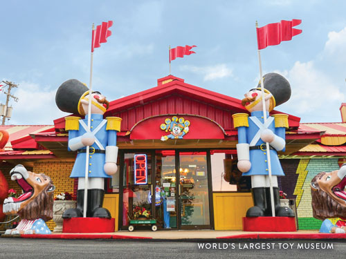 Front entrance of the World's Largest Toy Museum in Branson.